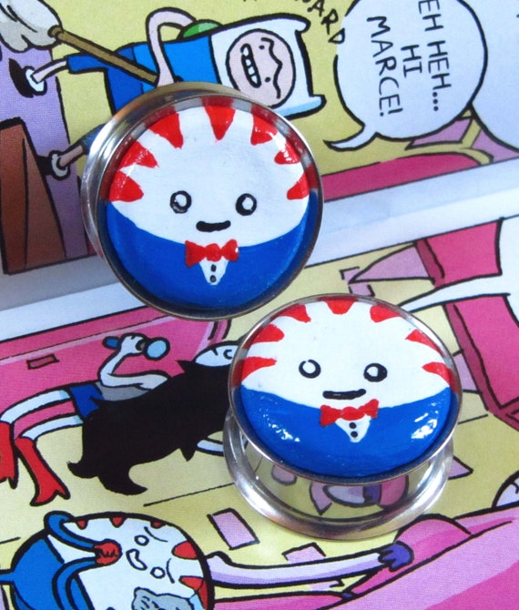 "7/8"" Adventure Time Plugs - Peppermint Butler Plugs"