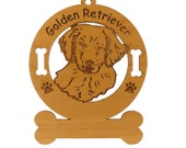 3261 Golden Retriever Pup Personalized Ornament