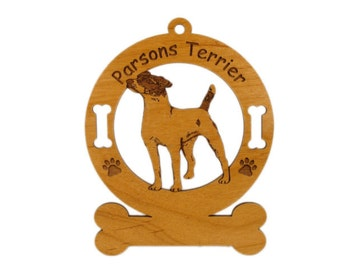 3469 Parsons Terrier Standing  Personalized With Your Dog's Name