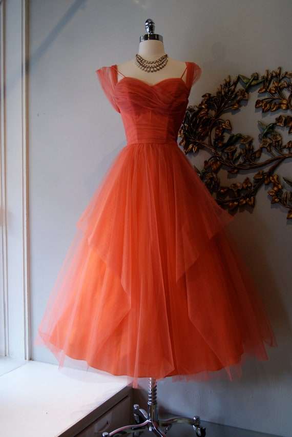 50s Dress 50s Party Dress 50s Prom Dress By