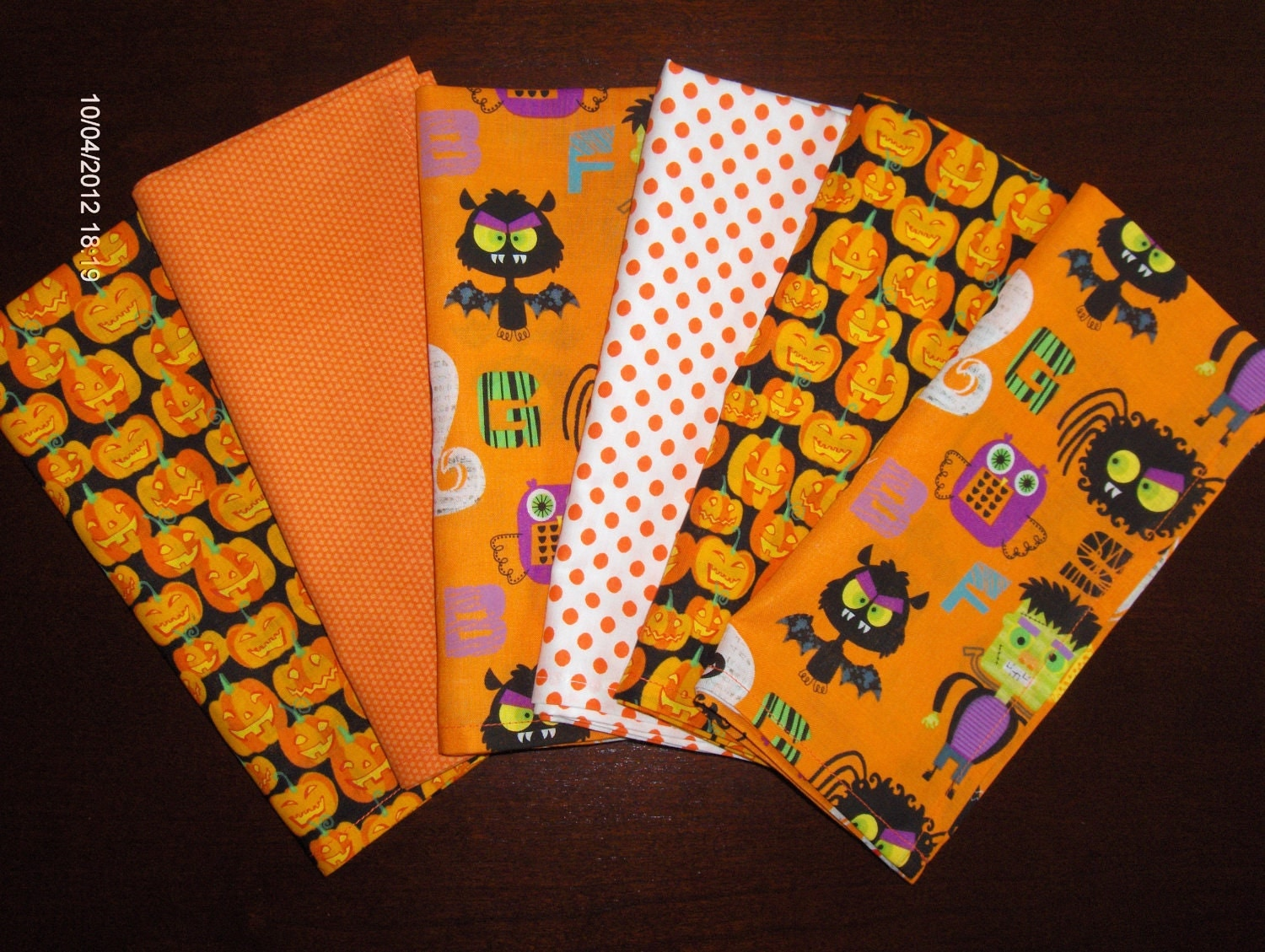 sale on halloween cloth napkins set of 6 fun by
