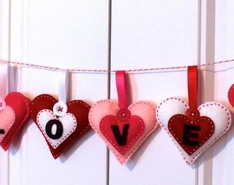 DIY Felt Heartfelt Love Banner KIT