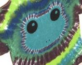 Emerald Green Tree Frog Tie Dye Shirt Youth XL