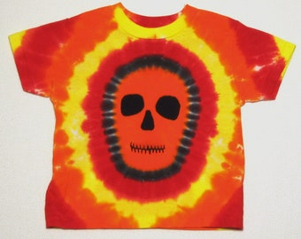 Orange Faced Zombie Tie Dye Shirt Size 3 t