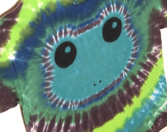Emerald Green Tree Frog Tie Dye Shirt Youth XL