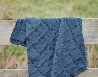 PDF Baby Knitting Pattern -  Babies First Blanket