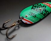 Bright Green Chartreuse Fuji Film Fishing Lure Original Recyclure Large