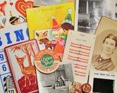 Vintage Ephemera Kits Over 20 Pieces
