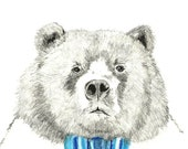 Mister Bear - Bear Illustration - Bear With Bow Tie