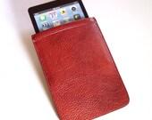 iPad Mini Leather Case - Tan Pebble-Grain Leather Sleeve