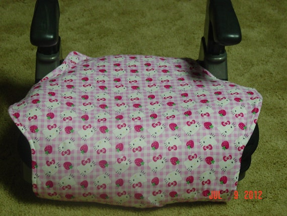 Hello Kitty  toddler booster seat cover--booster seat not included