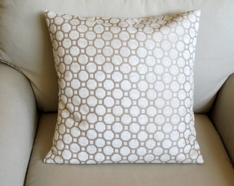 PEARL ivory decorative pillow cover Velvet 18x18 20x20 22x22 24x24 26x26 12x20  13x26