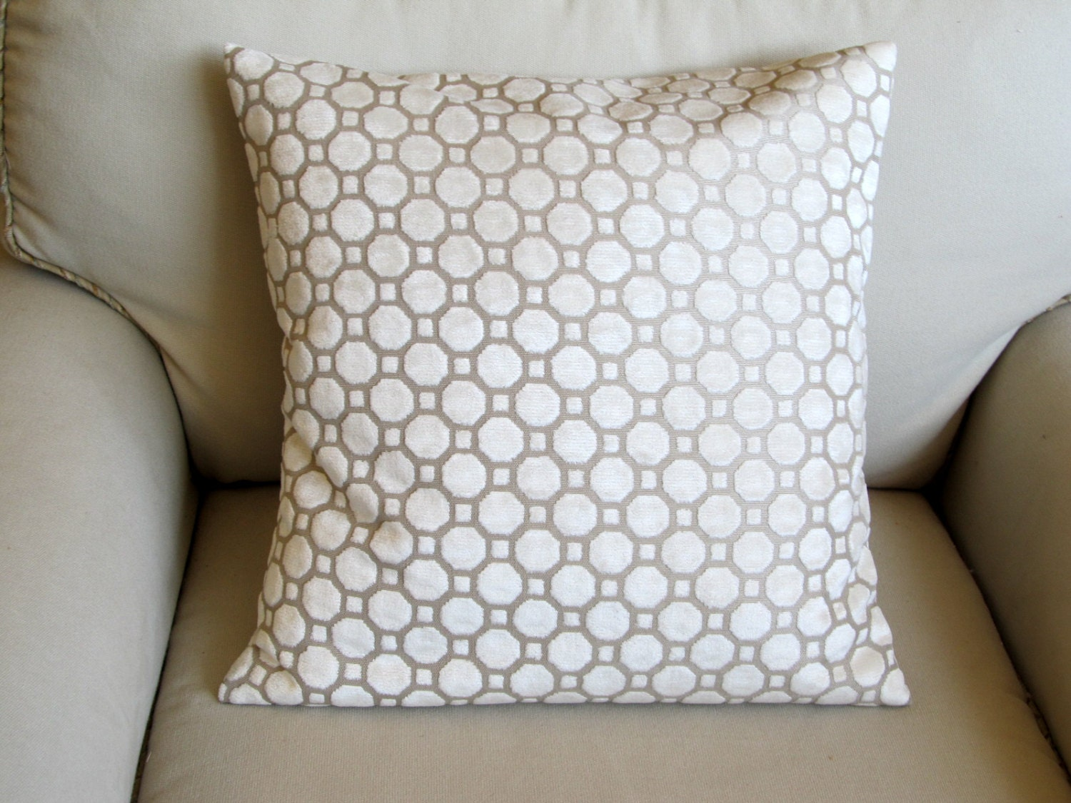 Decorative Pillow With Pearls : PEARL ivory decorative pillow cover Velvet 18x18 20x20 22x22