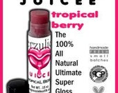 Juicee Tube Lip gloss High Ruby Berry Tint in  Tropical Berry   Organic lip gloss