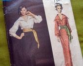 1960s Vintage VOGUE Paris Original - Blouse Skirt Sash - Jean Patou- Vogue 1374 - Uncut with TAG