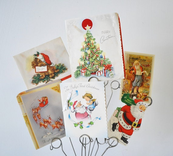 destash vintage Christmas Cards