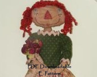 PDF Downloadable Pattern - SPRING Raggedy Annie E-PATTERN - Hafair