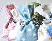 Fabric Favour Bags (10) - Pastel Mix