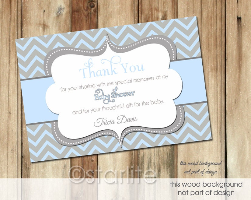 baby boy thank you card boy baby shower thank you card by starwedd