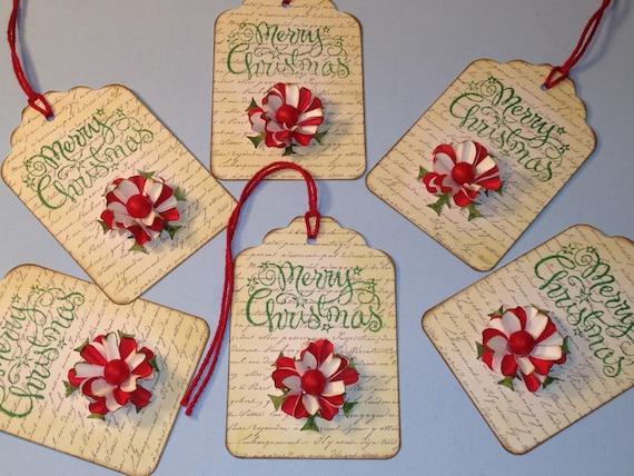 Christmas Name Tags: Merry Christmas Gift Name Tags Scrapbooking Gift Wrap