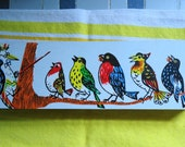 Vintage Wooden Pen Pencil Box or Case With Birds From Germany Made by Anker-Griffelkasten