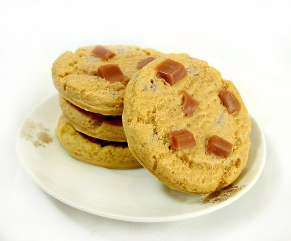 Chocolate Chip Cookies - jabones de leche de cabra 4 Pack