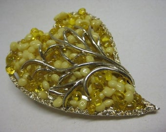Heart Yellow Gold Brooch Vintage Pin