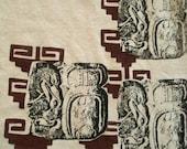 Hemp Mens T-shirt Mayan Glyph Aztec Pattern Pyramid