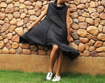 30 USD Sale  Never a dull day... Black cotton mixed with silk in 3 sizes S, M, L (140)