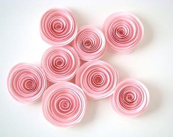 Spiral Paper Roses - Set of 12 in Pink
