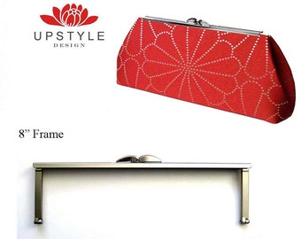 """Set of 6 - Large Purse Frames - 8"""" Open Channel Frame - Ships from the USA - 8dm brn"""