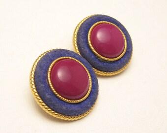 Large Button Earrings E5521