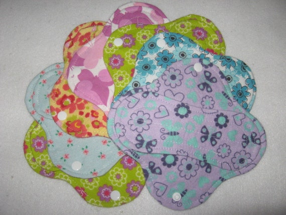 Cloth panty liners set of seven 6""