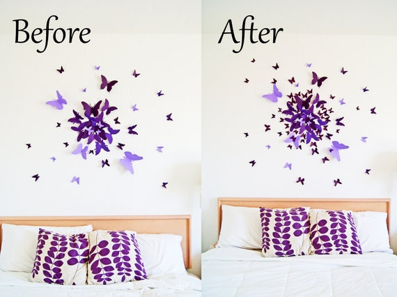 EXTRA 40 small 3D Butterfly Wall Art Circle Burst