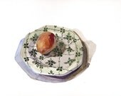 I love boiled eggs and 1950's decorative English plates, Emma Copley original watercolor painting