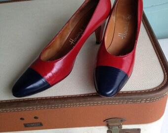 Howard Fox Vintage Red and Navy Heels 9.5AAA