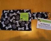 Bones and Paws Print   - Key Chain Pouch