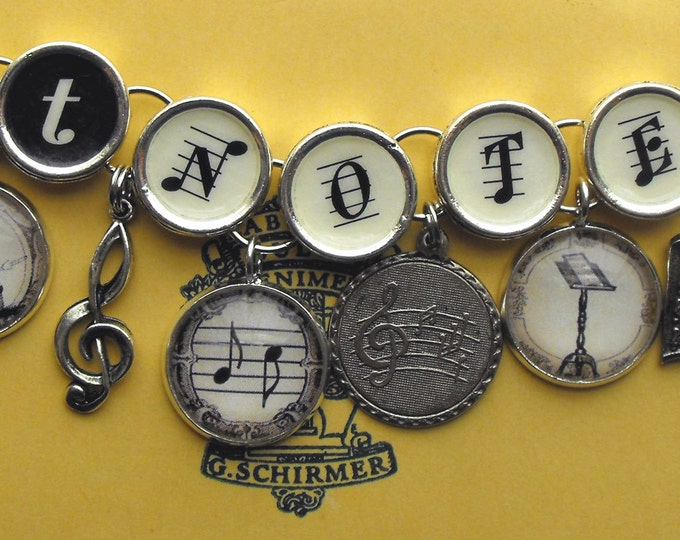 Got Notes Bracelet Musicians Music Charm Jewelry