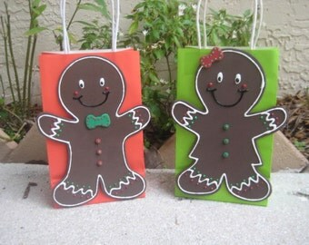 Gingerbread Man Cookie Birthday Party Favor Bag
