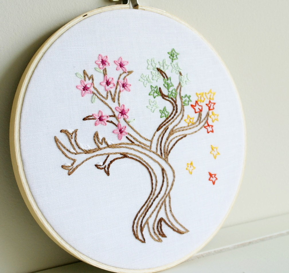 Hoop Art Hand Embroidery Wall Hanging Set Of 3 Aimee Ray