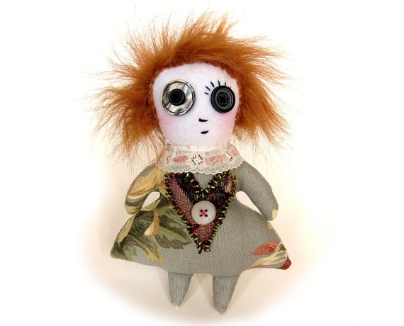 Etheline - Victorian folk art cloth rag doll