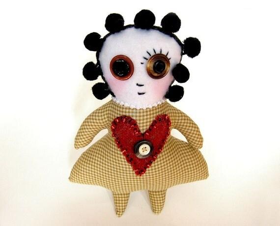 Minnie - Victorian folk art cloth rag doll