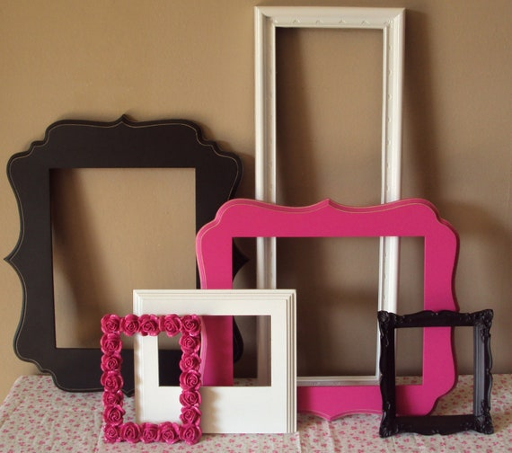 items similar to picture frames paris chic 6 open frames