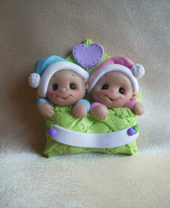 Twin Ornament Baby's First Christmas Twins  baby gift children toddler personalized baby children