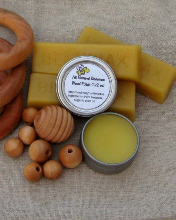 All Natural Beeswax Wood Polish for wooden rings and toys Ships FREE with another item