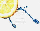 Water Droplet Lemon - Original