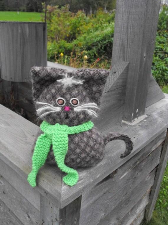 An Original Barn Cat Soft  Recycled Wool Pet