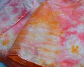 "Silk Fabric - Custom Colorway Hand Dyed, 5 yards 36"" wide ( 8mm) / Waldorf"