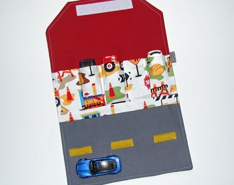Car Wallet - Holds 5 of your childs favorite cars Dig It Trucks
