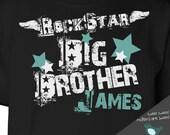 rockstar big brother t-shirt personalized rock star  DARK shirt